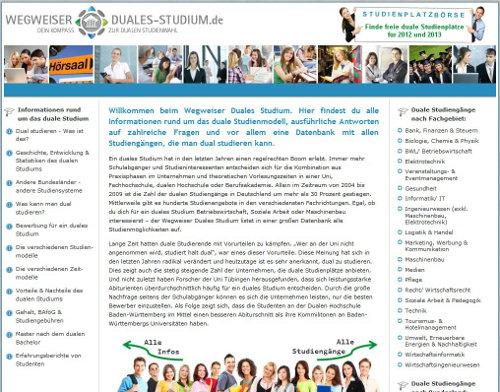 Wegweiser-Duales-Studium.de Duales Studium Studienwahl